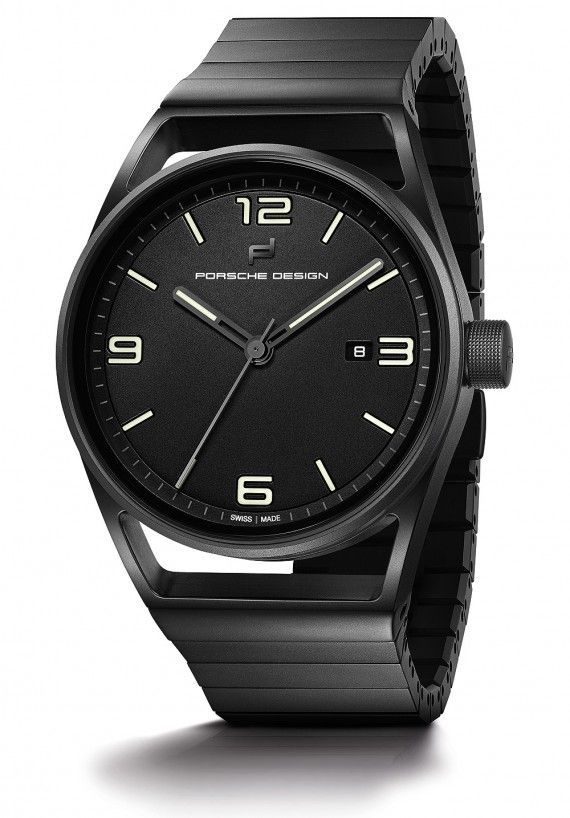 The @porschedesign 1919 Datetimer Eternity Black Edition with 42-mm black titanium carbide coated case and bracelet, and with the Sellita SW 200 movement. More @ http://www.watchtime.com/wristwatch-industry-news/watches/bauhaus-comes-to-basel-the-porsche-design-1919-eternity-collection/ #porschedesign #watchtime #menswatches #Baselworld2016