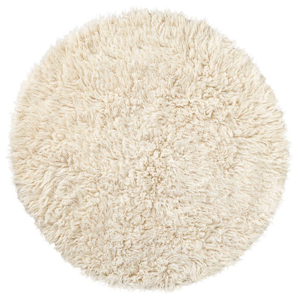 Flokati Fluff Round Rug Flokati rug, Rugs, Kids area rugs