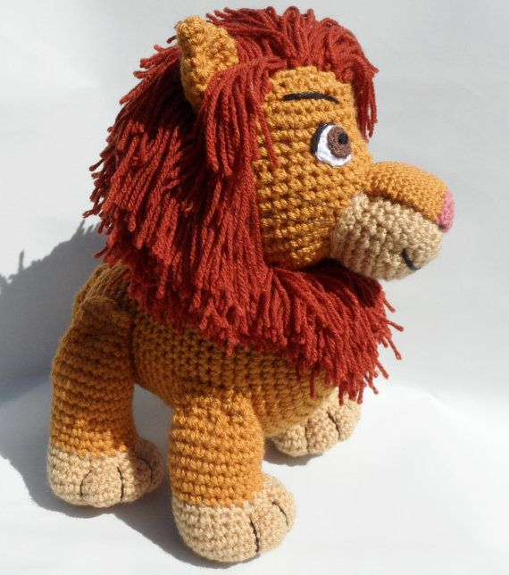 The Lion King Inspired Adult Simba Soft Toy - Large Crochet Lion ...