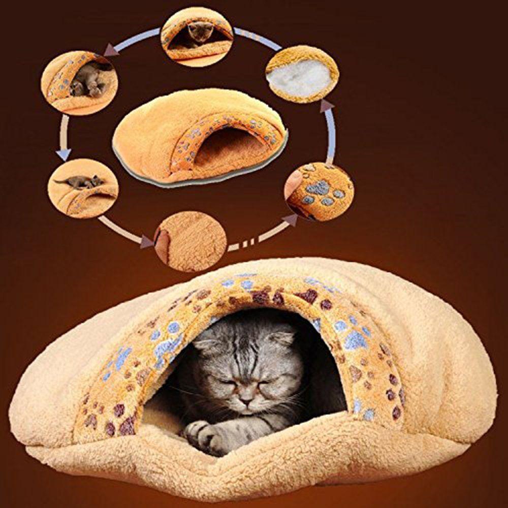 Miluck Pet Cat Bed Cat Sleeping Bag Soft Warm Windproof Waterproof Pet Bed House For Dog Cat Kitten Indoor Outdoorsb Dog Beds Homemade Sleeping Puppies Cat Bed