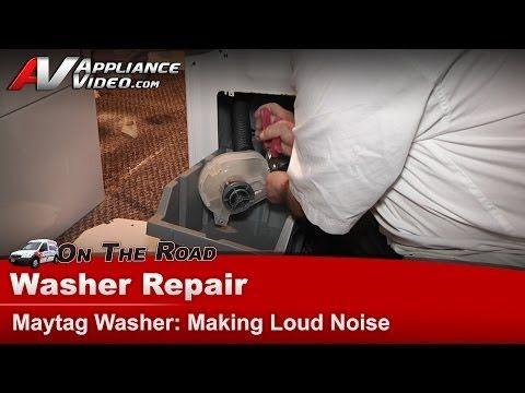 Washer Diagnostic Repair Making Loud Noise Maytag Whirlpool Roper Crosley Mav3855aww Youtube Washer Repair Maytag Washers Loud Noises