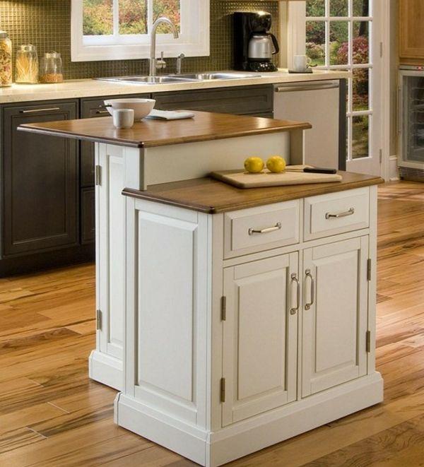 praktische weiße Kücheninsel selber bauen diy Pinterest - kücheninsel selbst gebaut