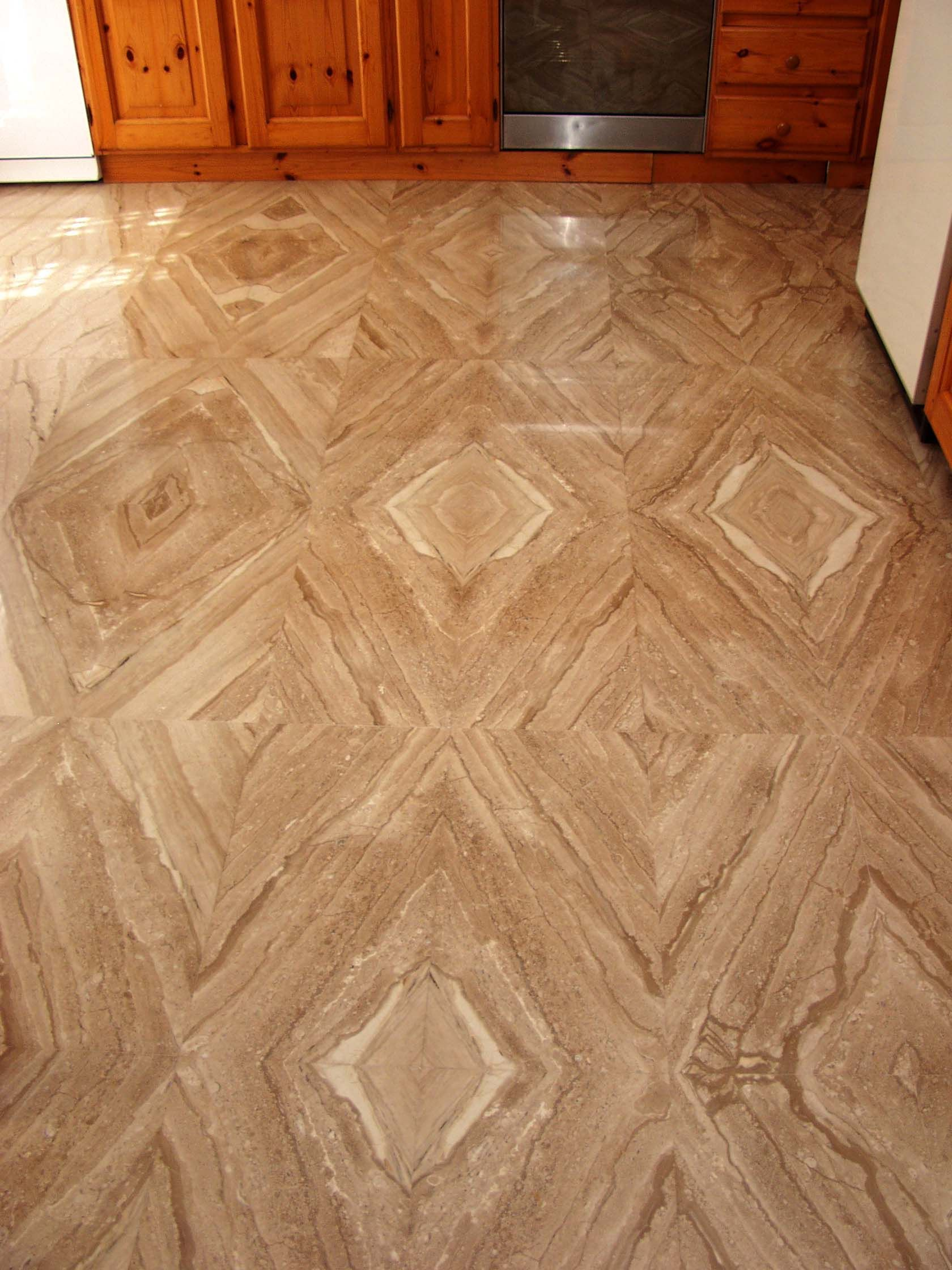 Daino Reale Marble Floor Cut On 45 Erfly