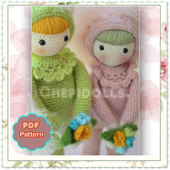 Muster kleine Liebe Bote dekoratives häkeln Puppe von chepidolls