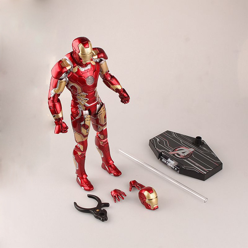 67.77$  Watch now - http://alinne.worldwells.pw/go.php?t=32789856035 - Hot-selling 1set 30CM pvc anime figure MARK43 The avenger Iron Man  action figure collectible model toys brinquedos 67.77$