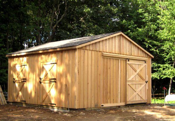 20x20 Doublewide Horse Barn - Wood-Tex Products | Barns