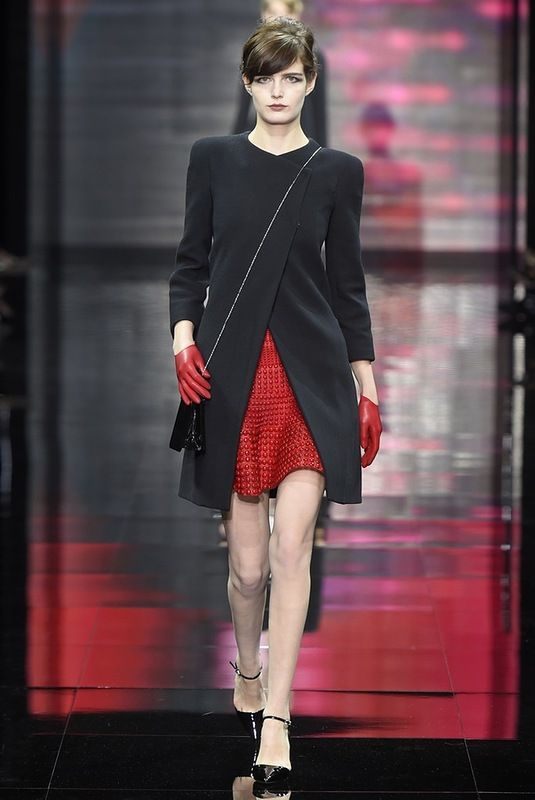 red & black look by Armani Privé Haute Couture fw 2014-2015