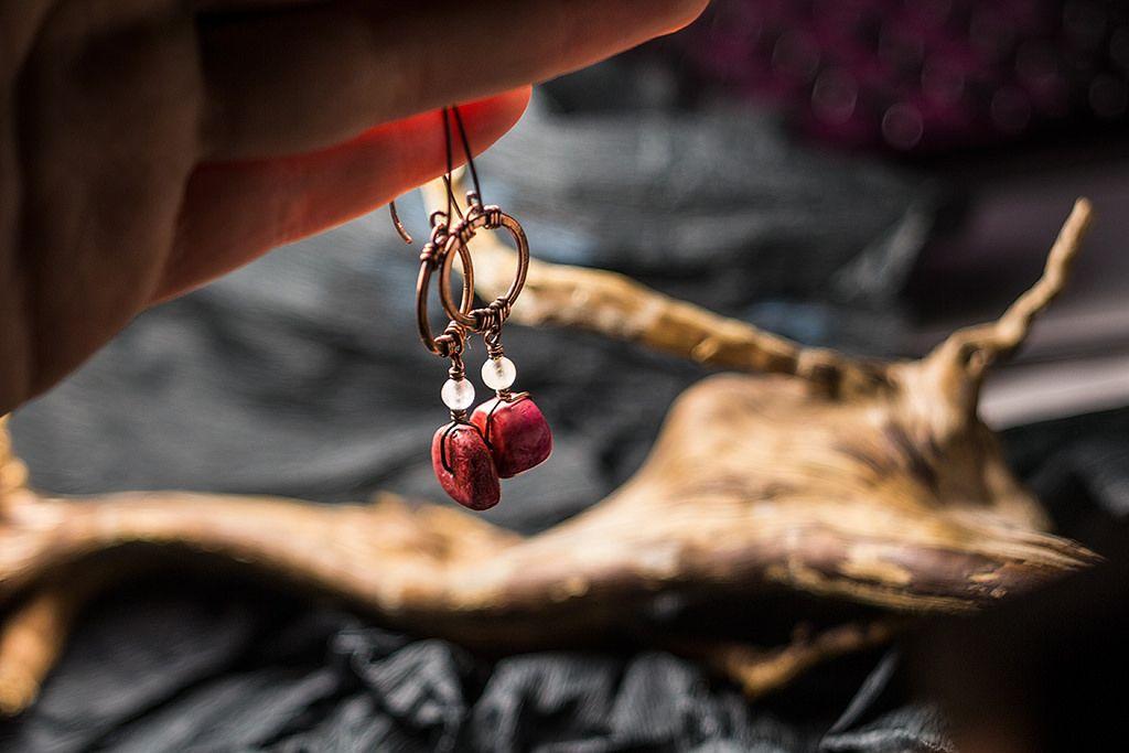 https://flic.kr/p/Eqkt3a | red apple earrings