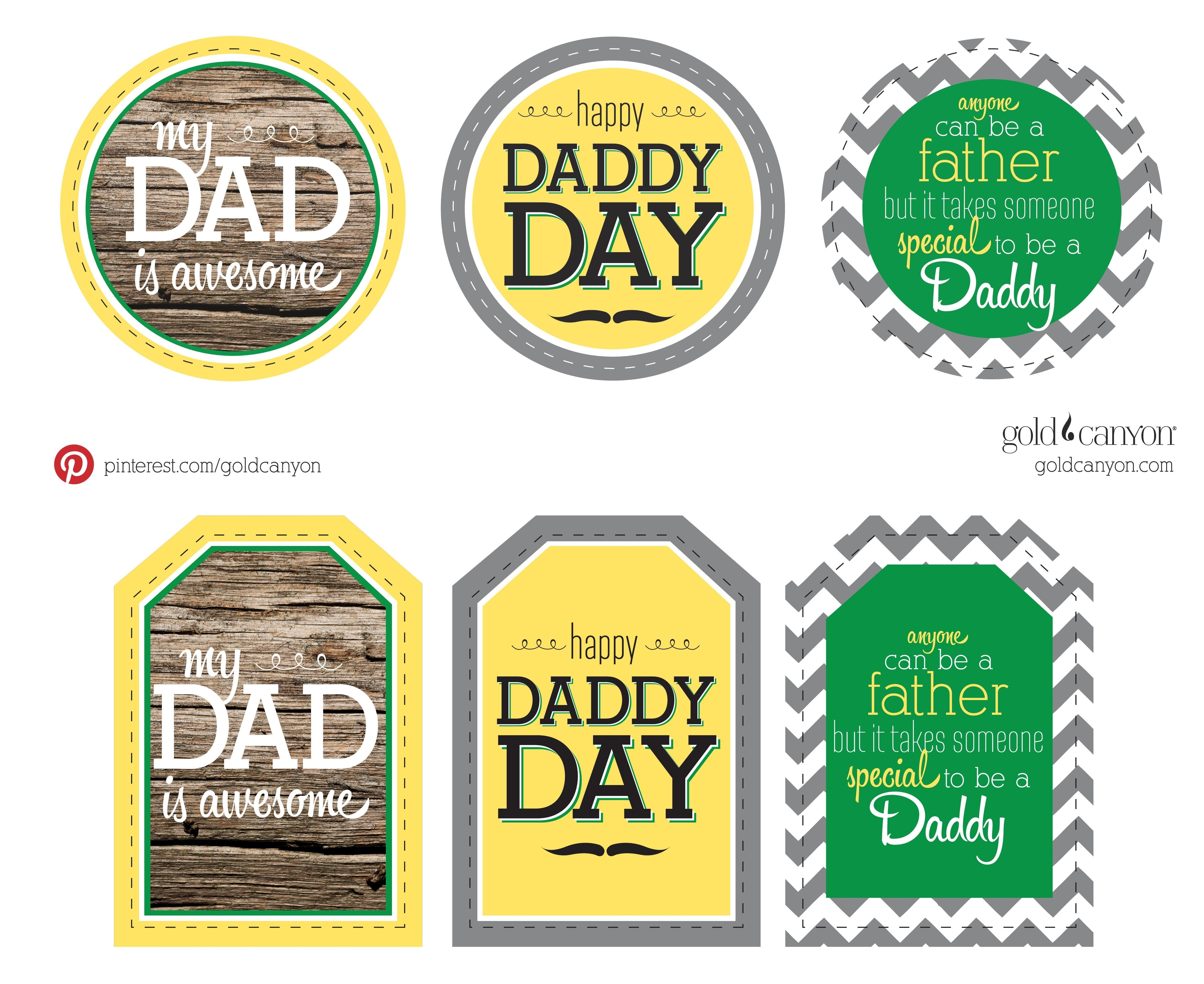 photograph about Free Printable Fathers Day Tags titled Free of charge Printable Present Tags for Dads Working day! Demonstrate your Daddy