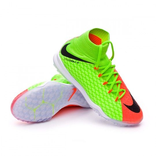 b3dfb12f12f11 Zapatilla de fútbol sala Nike jr HypervenomX Proximo II DF Turf Electric  green-Black-Hyper orange-Volt