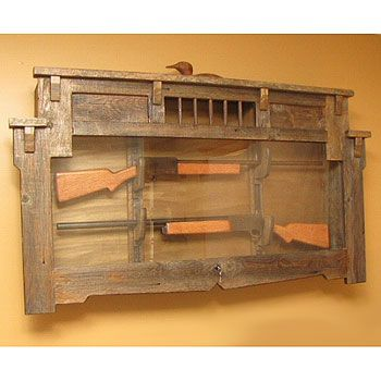 gun racks for wall | Hunteru0027s Retreat Gun Display Cabinet - SaddleBack  Western