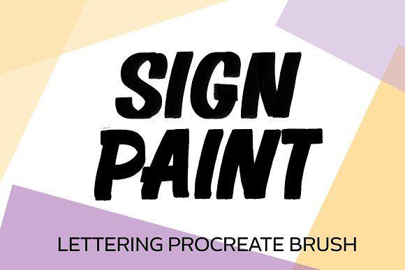 Sign Painter Procreate Brush Procreate brushes