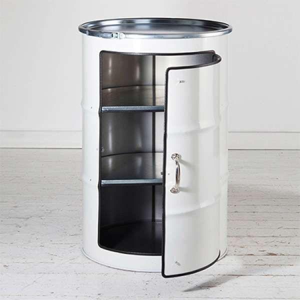 14 transformations poustouflantes de barils en m tal deco pinterest baril meuble de. Black Bedroom Furniture Sets. Home Design Ideas