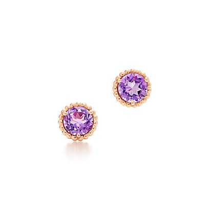 34a112c02 Tiffany Sparklers earrings in 18k rose gold with lavender amethysts. |  Tiffany & Co.