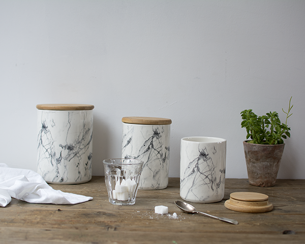 Beautiful Ceramic Storage Jars With A Marble Print These Are Air For Kitchen And Have Pretty Wooden Lid Purchase Individually Or As