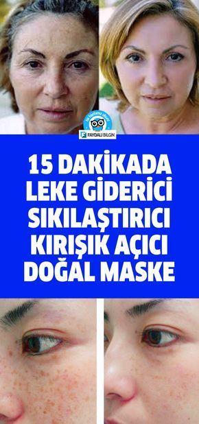 15 Dakikada Leke Giderici Sikilastirici Kirisik Acici Dogal Maske