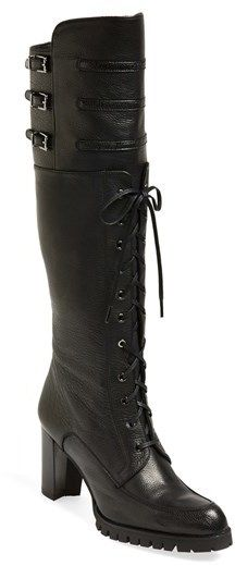 f68cbd2021 Stuart Weitzman 'Soldier' Lace-Up Military Boot (Women) on shopstyle.com