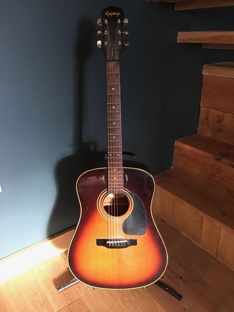 Epiphone Pr 300 Acoustic Guitar Vintage Sunburst Epiphone Guitar Acoustic Guitar