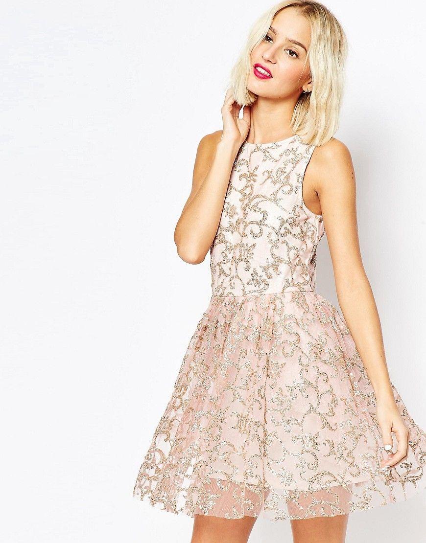 Asos sparkle mesh glitter mini prom dress fashion pinterest