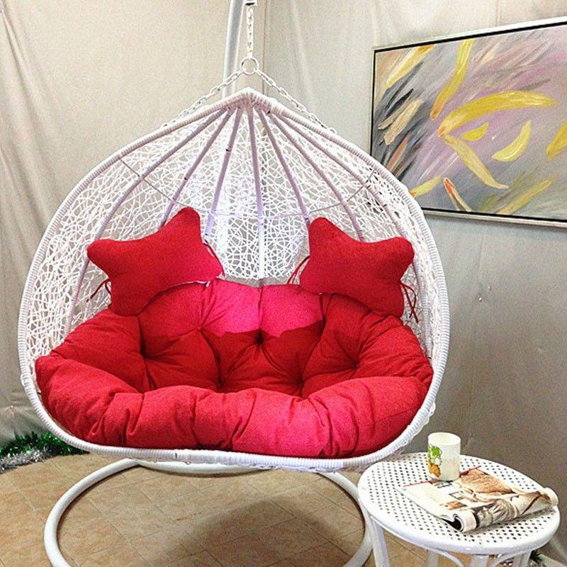 Beau White Wicker Hammock Chair Swing For Bedroom