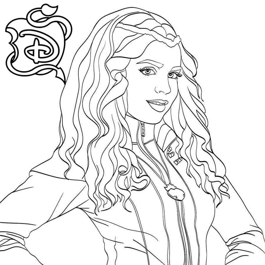 Descendants 18 Coloring Pages New Collection Descendants Mal and