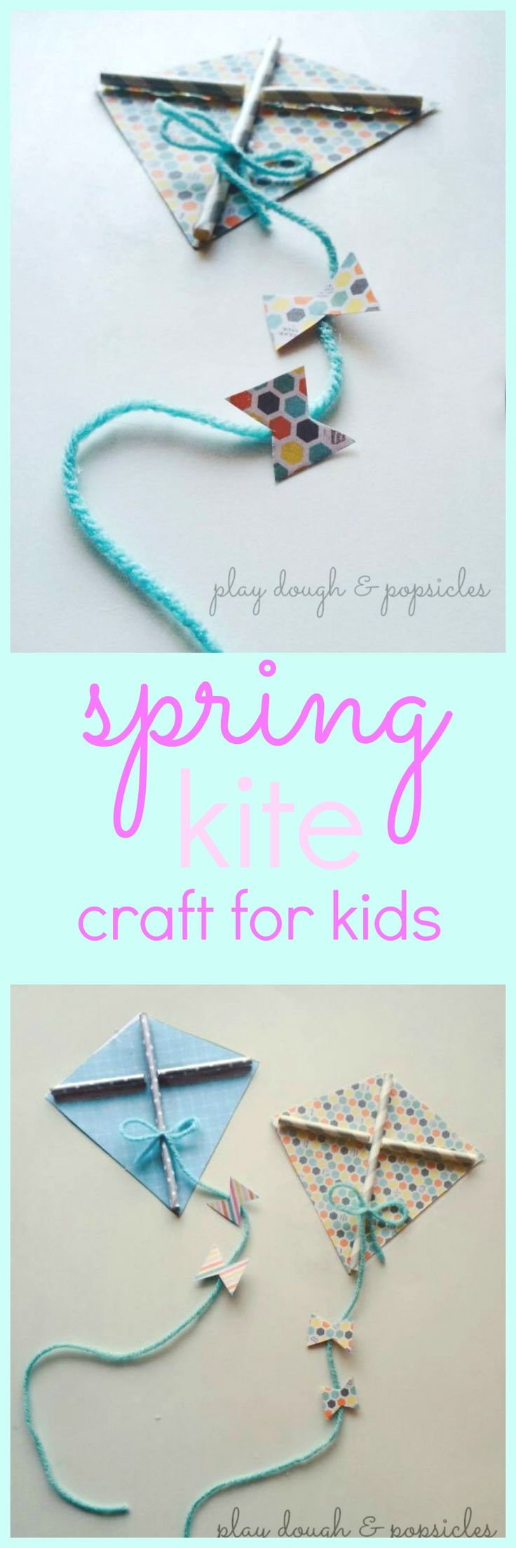 Kite Craft For Kids Colorful Fun Made From Card Stock And Paper Straws Letter K Preschool