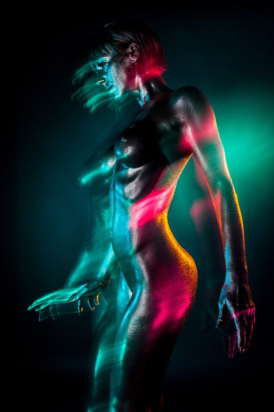 Photographer Jefta Hoekendijku0027s Series Aura Features Shimmering Bodies In  Motion And Dazzling Colors. The Feel