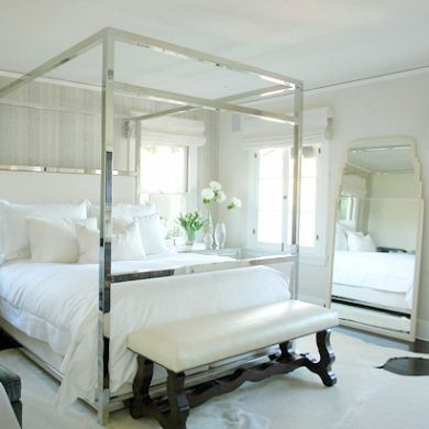 Chrome Four Poster Bed With Images Canopy Bedroom Canopy