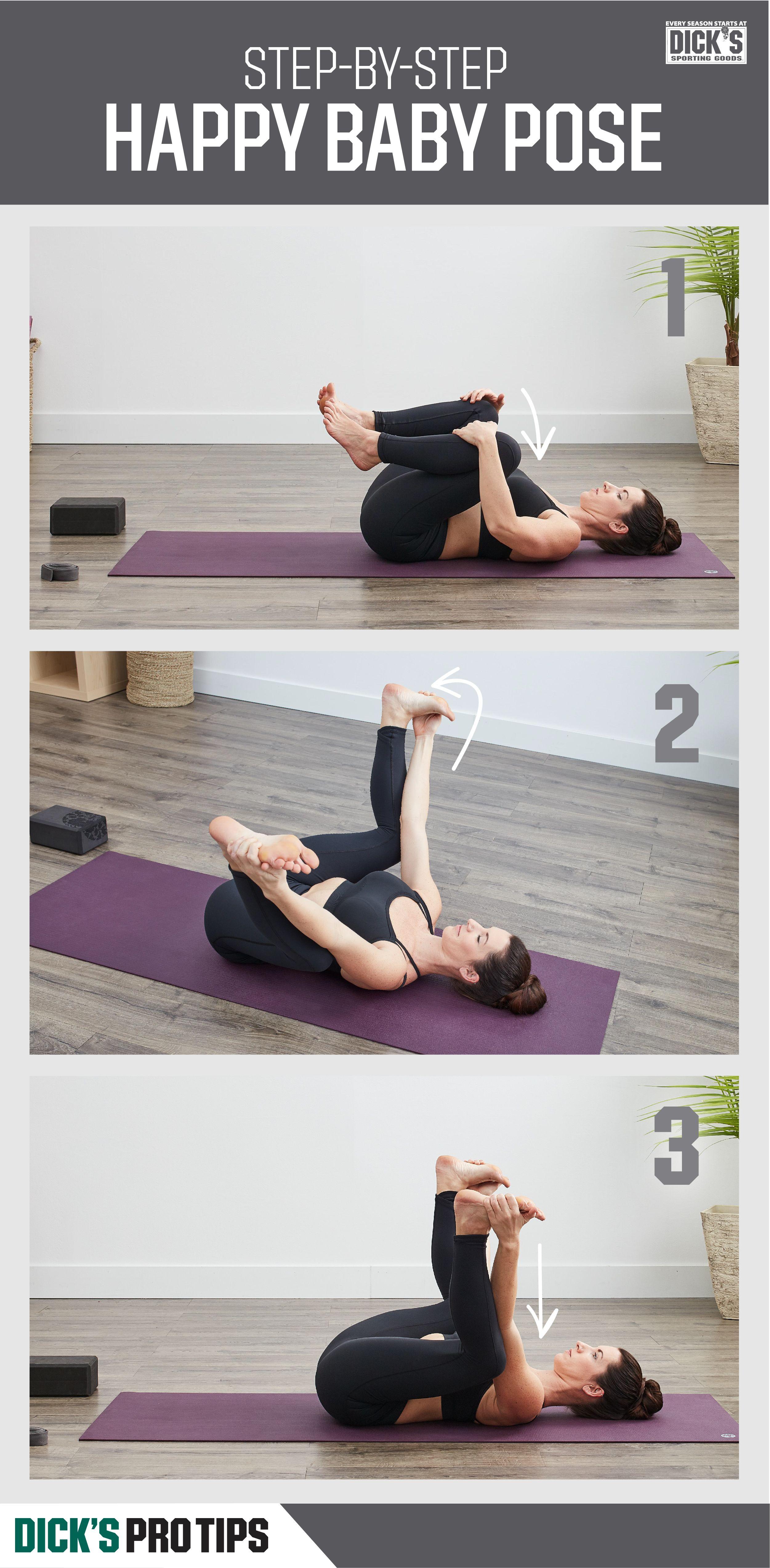 How to Do Happy Baby Pose Happy baby pose, Baby yoga