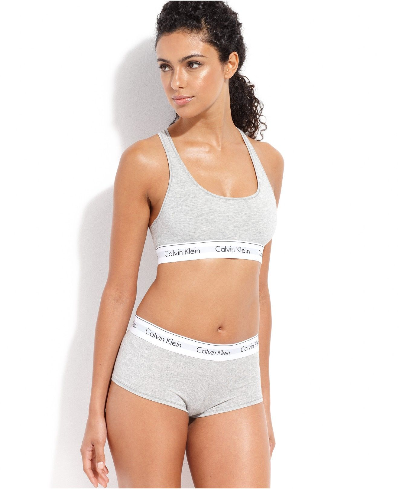 dc91252638 Calvin Klein Modern Cotton Logo Bralette F3785 - Lingerie - Women - Macy s