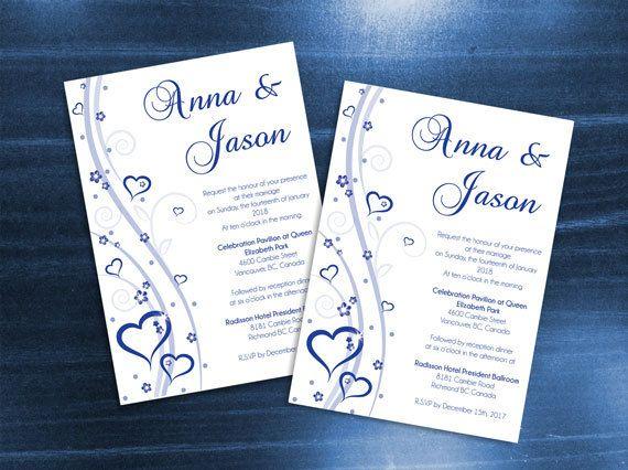 Diy Printable Wedding Invitation Card Template Editable Ms Etsy In 2021 Wedding Invitation Cards Diy Printable Wedding Invitations Wedding Invitation Card Template