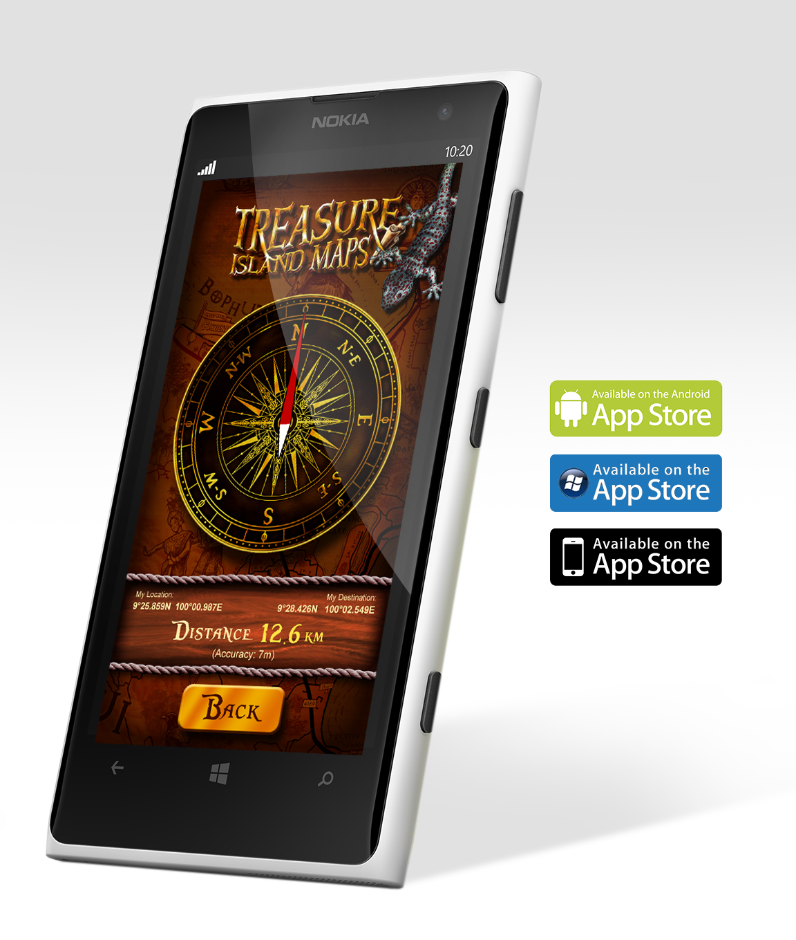 Get our free Treasure Hunt Compass App available for