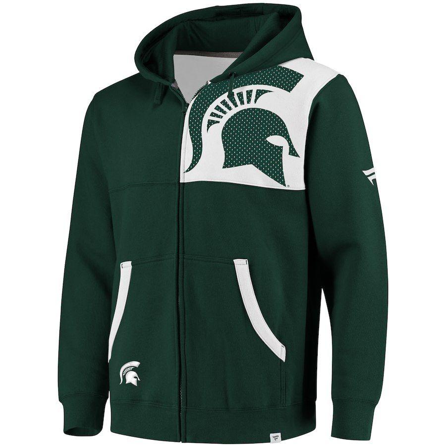 06537995 Michigan State Spartans Fanatics Branded Big & Tall Iconic Bold Full-Zip  Hoodie – Hunter Green