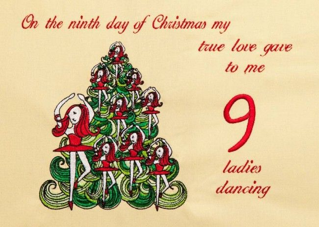 Ninth Day Of Christmas.Bfc1303 9th Day Of Christmas 12 Days Of Christmas Meaning
