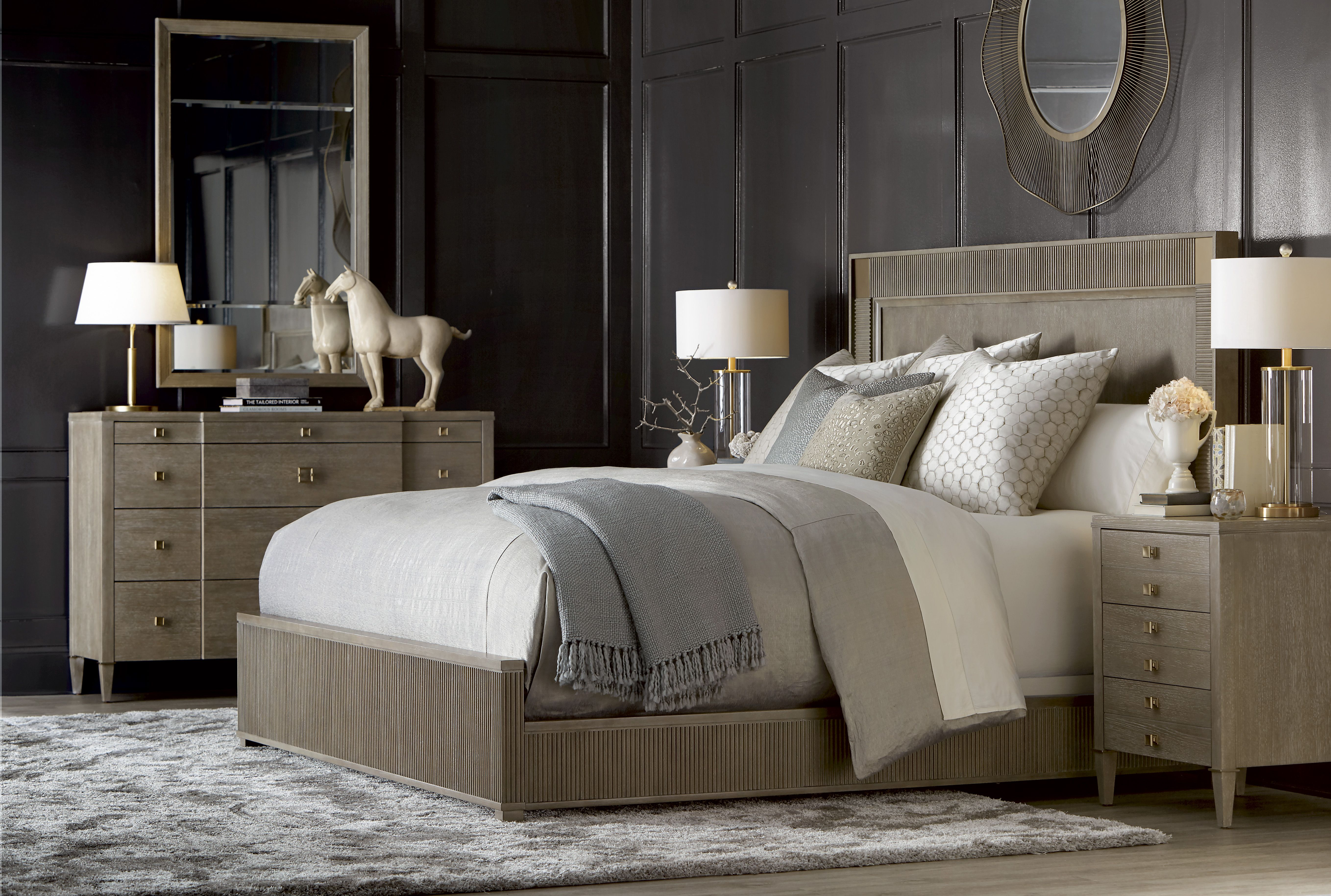 Cityscapes Hudson Panel Bed With Ellis Nightstand And Ellis Chesser With  Whitney Mirror By A.R.T. Furniture
