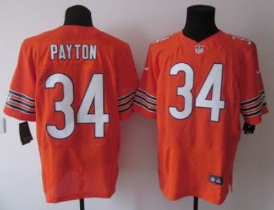 walter payton 2012 new nfl chicago bears orange (elite) jersey