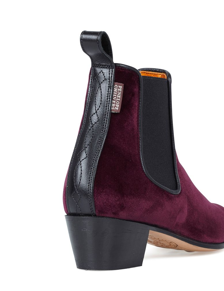 PENELOPE CHILVERS Velvet Ankle Boots Amazing Price Cheap Sale 2018 New With Paypal Online Sale Best Place 2DwT4L