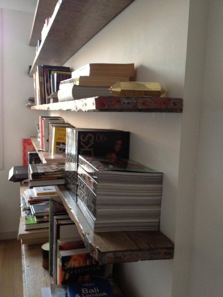 boekenkast, steigerhout, zwevende plank, amsterdam | boekenkast ...