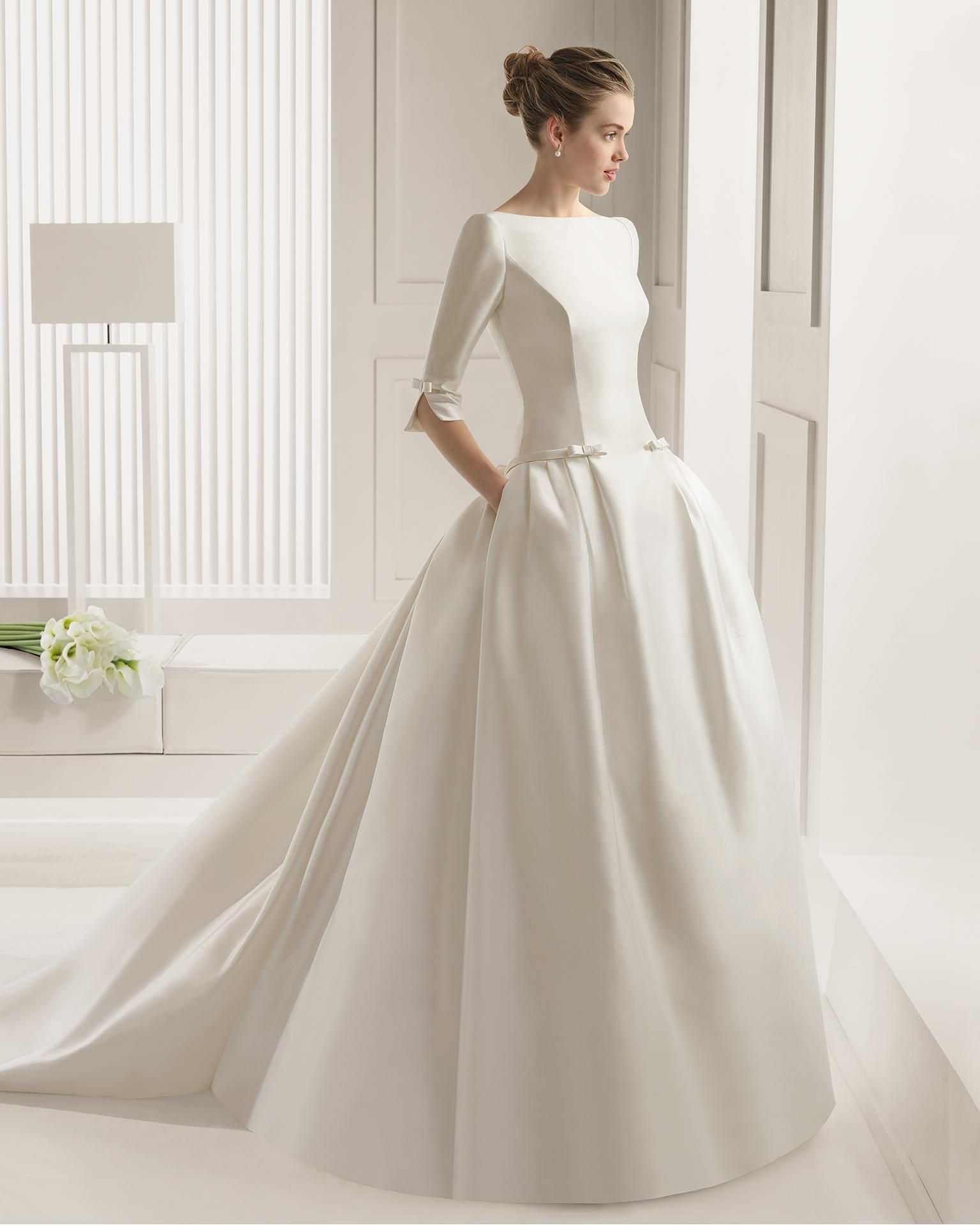 2015 Spring Chic White Backless Ball Gown Wedding Dresses Bateau - Wedding Dress Shirt
