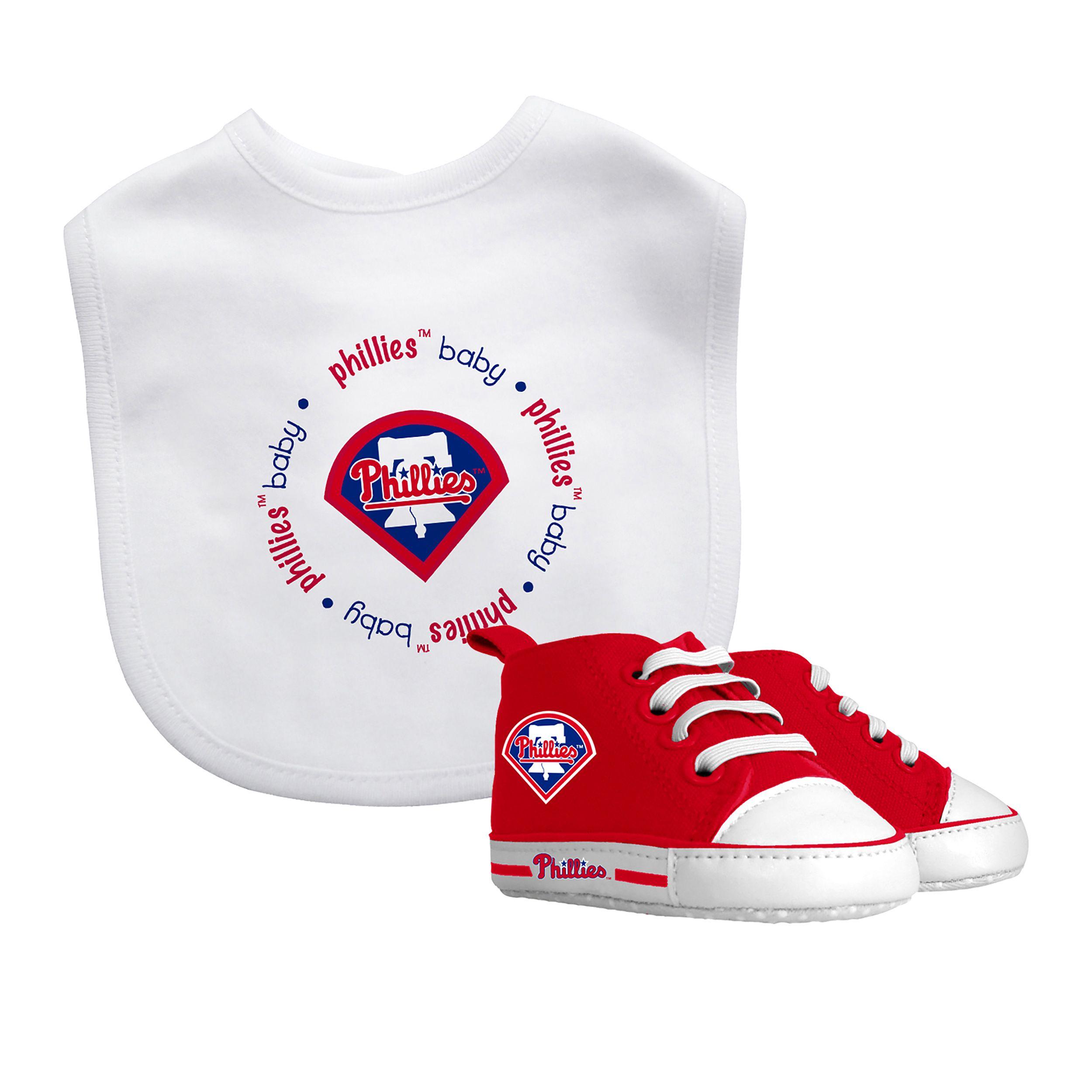 Baby Fanatic Philadelphia Phillies Bib and Pre walker Shoes Gift Set