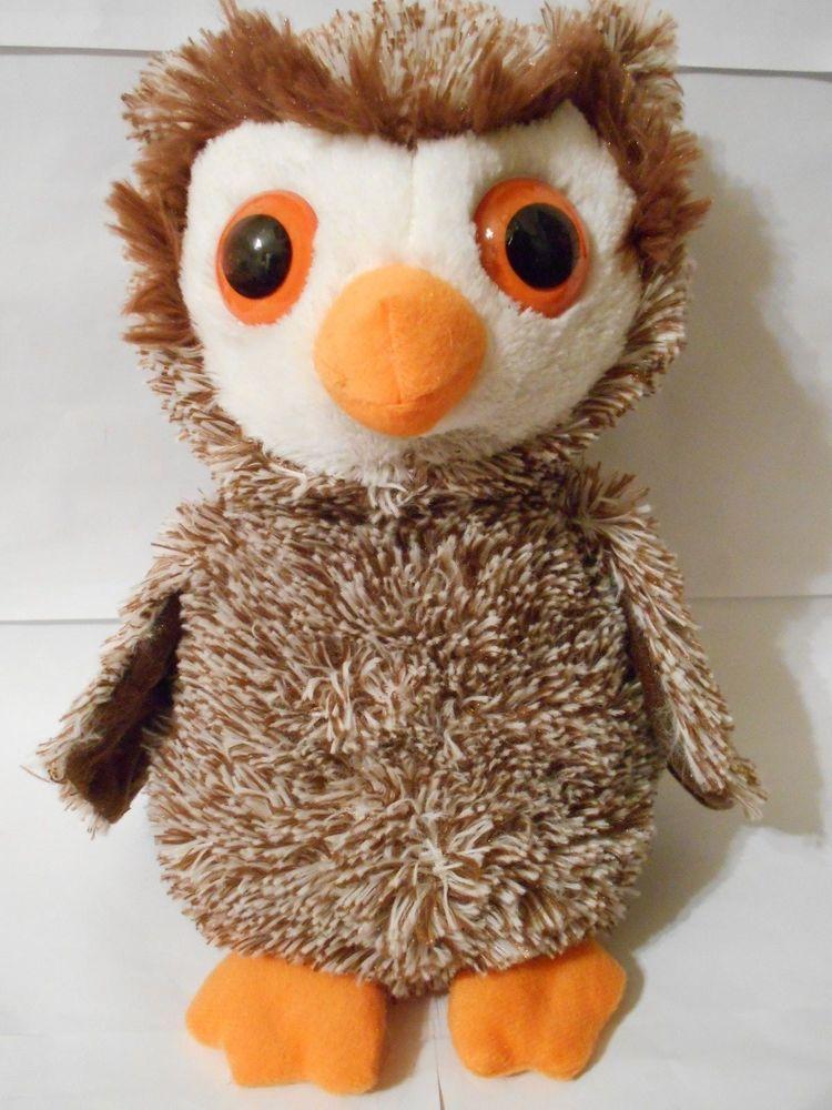12 Great Horned Owl Plush Stuffed Animal Toy Big Eyes New Plush