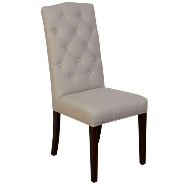 sillas tapizadas color crema dessing
