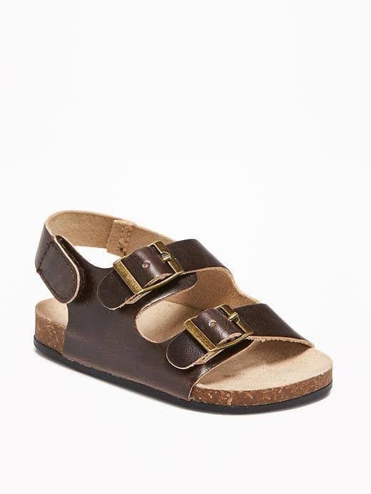 Little Baby Birks So Cute Brown Baby Sandals Birkenstock Type Shoes For Baby Affiliate Kid Shoes Baby Boy Shoes Cute Baby Clothes
