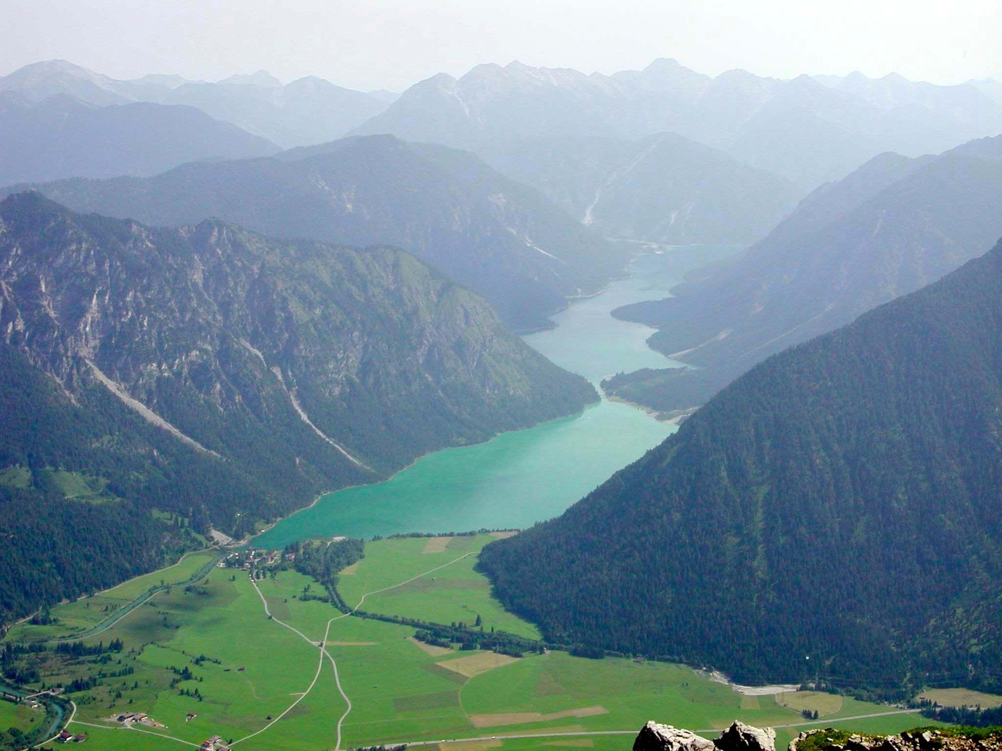 Lechtal - Thaneller  zicht op Heiterwanger See