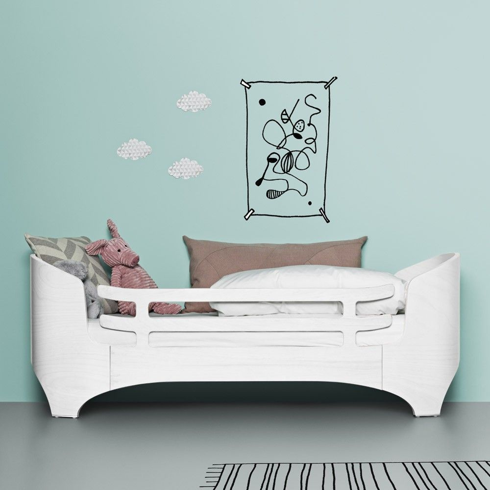 Junior Bed Security Rail White Satin Kids Bed Furniture