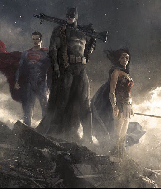 Batman V Superman Trinity Artwork From The Book The Art Of Batman