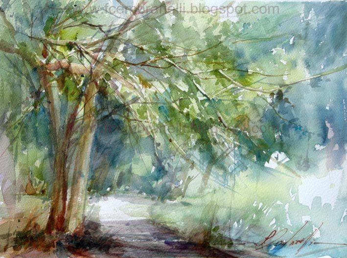 Watercolor, 23 x 15 inches, sold.  Aquarela, 58 x 38 cm, vendida.