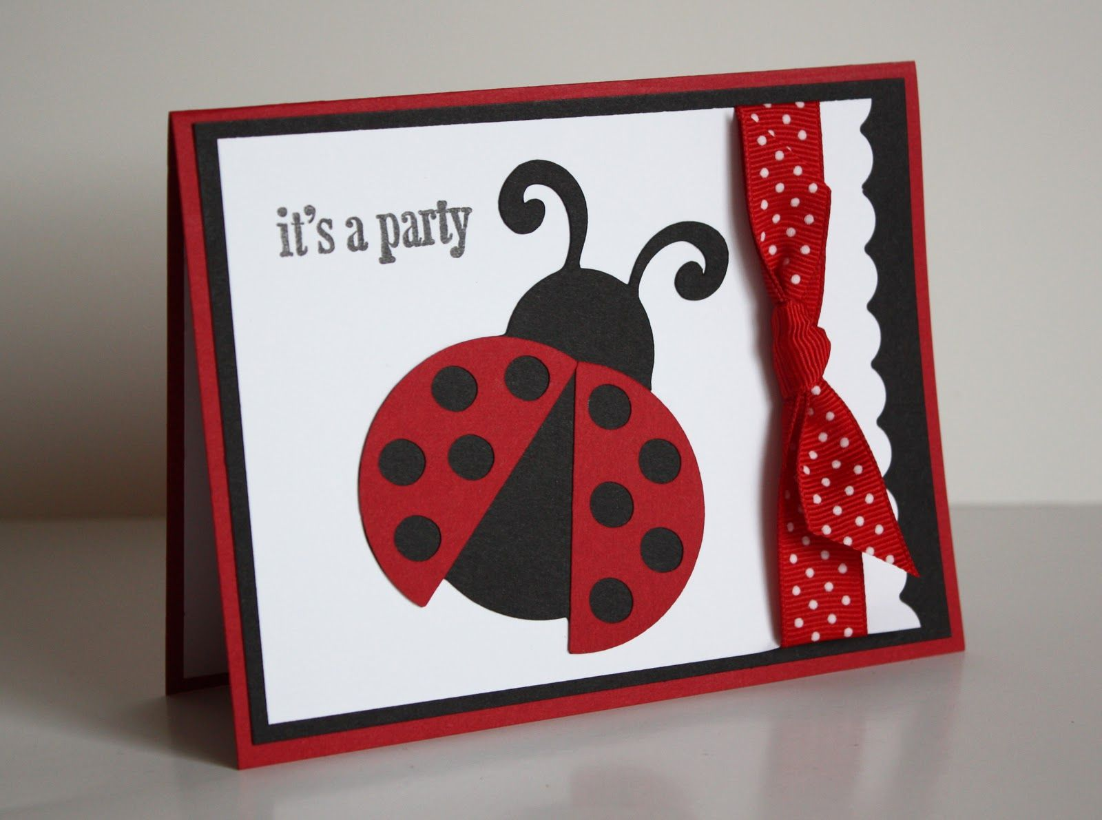 I was asked to create a ladybug party line for a birthday in January ...