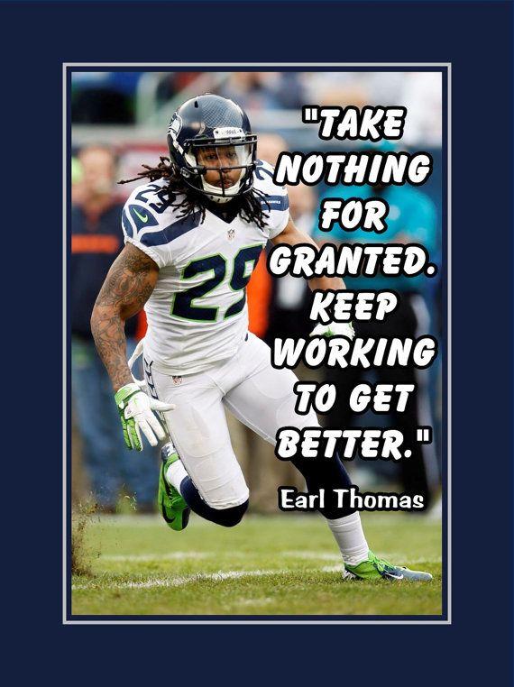 Cheap Earl Thomas Seattle Seahawks Photo Quote Fan by ArleyArtEmporium  free shipping