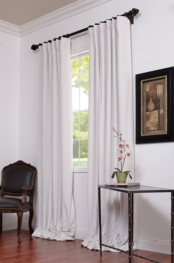 Signature Off White Blackout Velvet Curtain White Blackout